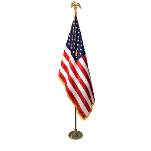 Deluxe 7' U.S. Flag Presentation Set - Parade Flag- Indoor Flag by Valley Forge Flags (Image #7)