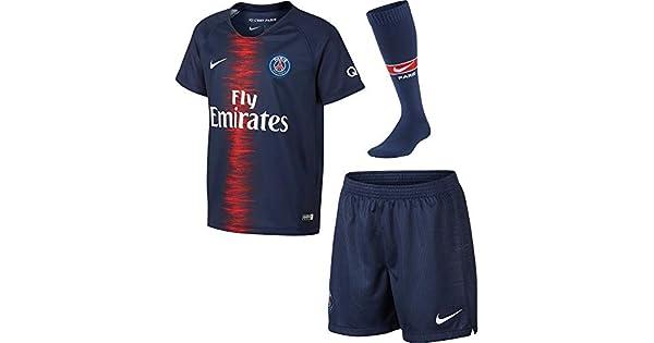 Amazon.com: Nike 2018 – 2019 PSG Home Little Boys Mini Kit ...