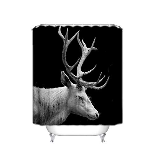 ALDECOR Wild Animal Deer Shower Curtain Resistant Waterproof for Bathroom Shower Curtain with Hooks 48