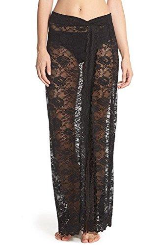 Scalloped Lace Half Slip - Black - Size Large