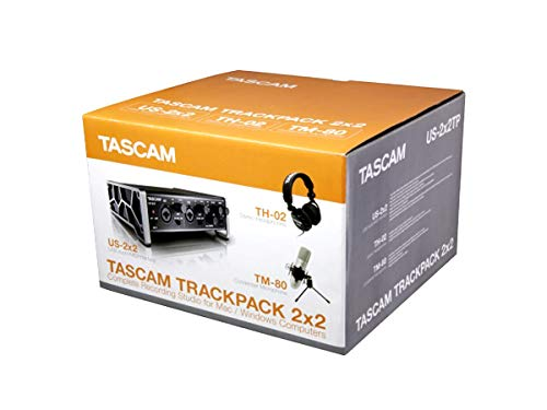- Tascam Trackpack 2x2 Complete Recording Studio Package for Mac/Windows Computers