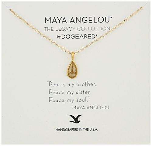 Gold Peace Sign Necklace - 4