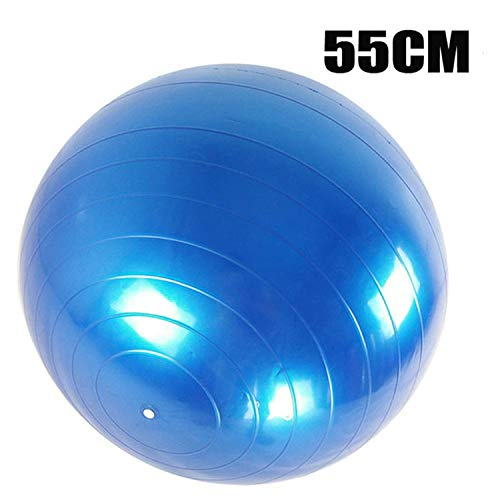 Yoga Balls Pilates Fitness Sports Gym Balance Fit Ball Exercise Pilates Workout Massage Ball 55Cm 65Cm 75Cm 85Cm,Blue55