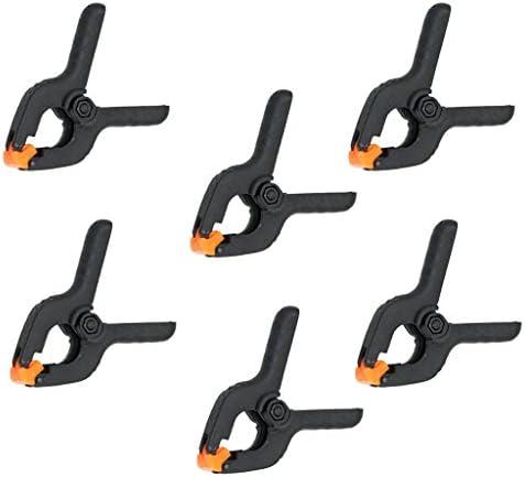 スプリングクランプ 6点セット 木工用 DIY工具 ブラック&オレンジ