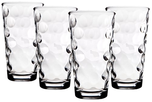Palais Glassware Cercle Collection; Clear Glass Set with Circle Design (Set of 4-17 Oz Highballs, ()