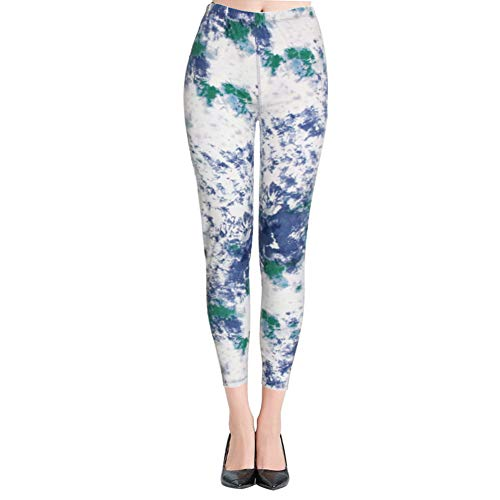 High Waisted Leggings for Women - Ultra Soft Stretchy Workout Pants – Reg/Plus Size (Ink Pattern, Plus Size (12-24)) by Syrinx (Image #1)