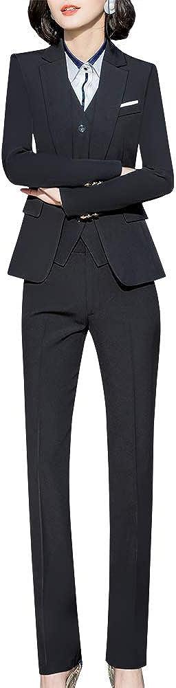 Women's Office 3 Piece Business Suits Set Slim Women Suits for Work Women Blazer Jacket,Vest&Pant