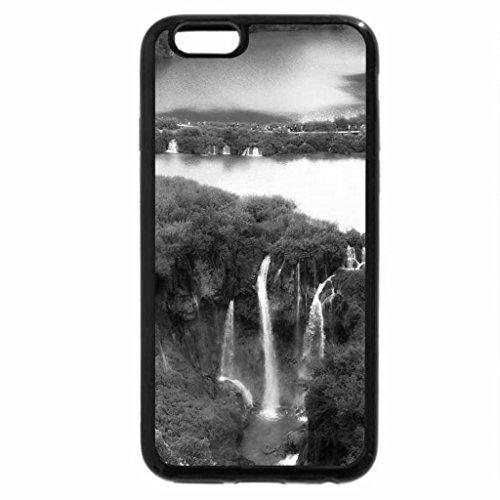 iPhone 6S Plus Case, iPhone 6 Plus Case (Black & White) - River Going to Falls