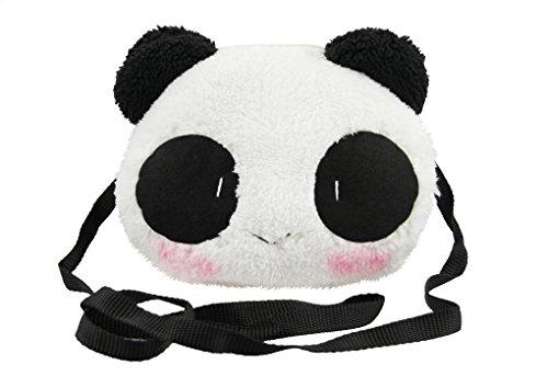Cute Little Teddy Bear (Little Girls Purse Cute Plush Panda Crossbody Travel Bag Cellphone Coins Wallet Bag Fashion Xmas)