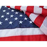 Top Rated American Flag, 100% Made In USA, 3x5 Nylon US Flags, Embroidered and Sewn, Indoor/Outdoor, Withstands Tough Weather and Wind