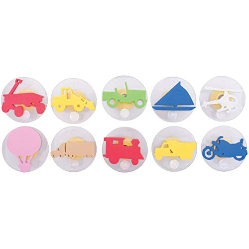 Ready 2 Learn Giant Stampers - Transportation Vehicles - Set 2 - Set of 10 - Easy to Hold Foam Stamps for Kids - Arts and Crafts Stamps for Displays, Posters, Signs and DIY Projects