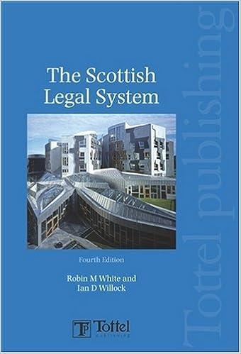 Scottish Legal System: Fourth Edition