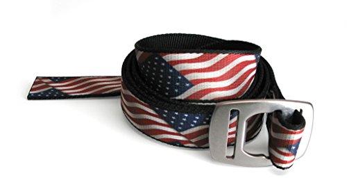CROAKIES Artisan w Bottle Buckle Belt-USA - American Flag Croakies