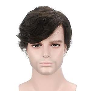 Lordhair 100% Cabello Humano Cabello Indio Francés Encaje Marrón Más Oscuro 2# Cabello Reemplazo Masculino Toupees Hombre