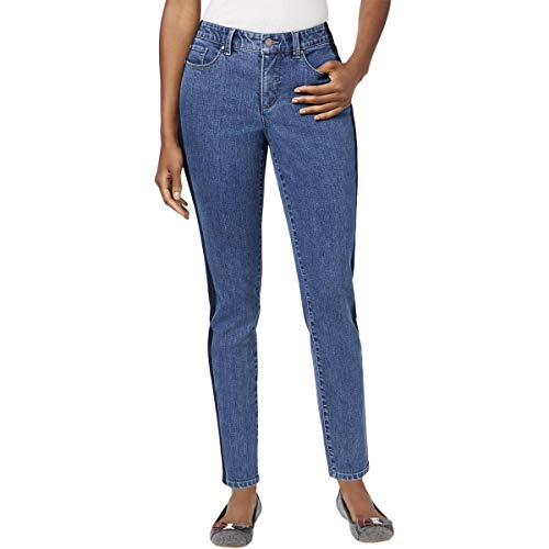 Charter Club Womens Denim Two Tone Ankle Jeans Blue 14 from Charter Club