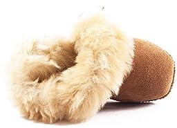 Lilbaby Bergen Merino Sheepskin Baby Bootie (100% PURE Australian Sheepskin, Calf Suede, Velcro Fastener)