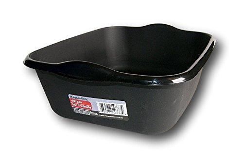 Single Basin Classroom Sink - Essentials Black Plastic Eight Quart Dishpan - 13½ x 11 x 4½H