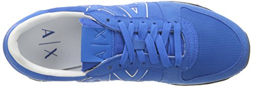 Men Armani Lapis Exchange Sneaker X Fashion Running Cobalt Sneaker Retro Blue A qfgtSaza