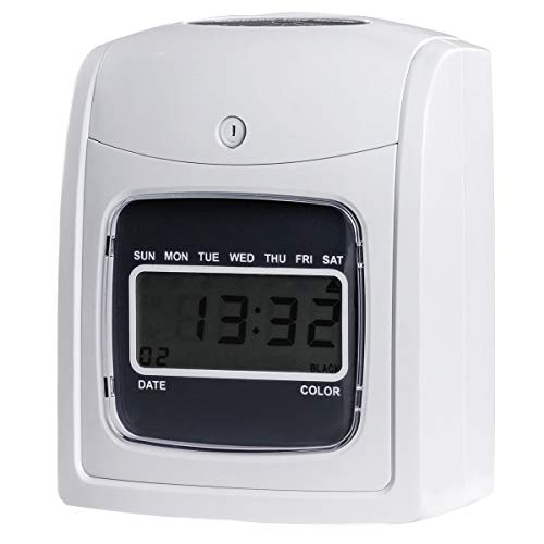 Goplus Electronic Time Attendance Clock, Employee Time Recorder, Punch Clock Machine Includes 200 Cards and 2 Time Cards Racks by Goplus (Image #5)