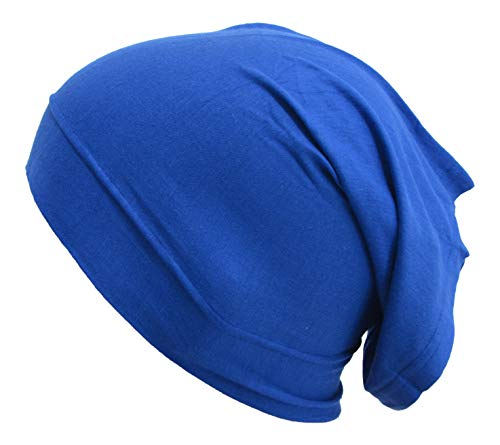 Stretch Jersey Hijab Cap Tube Under Scarf Royal Blue