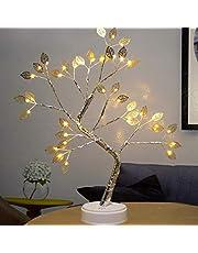 Amusingtao Ledlamp, bonsai-boom, tafellamp, bonsai-ruimte, 108 leds, kunstboom, batterij/USB, voor slaapkamer, desktop, decoratie