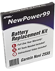 NewPower99 Battery Replacement Kit with Battery, Video Instructions and Tools for Garmin Nuvi 2555