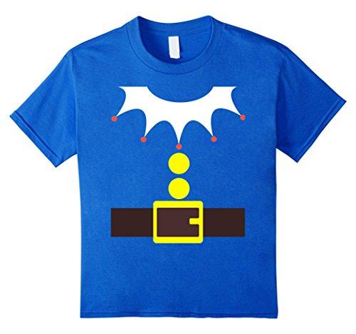 Kids Elf Costume TShirt Funny Christmas / Xmas Santa Helper Shirt 10 Royal Blue - Funny Girl Costumes