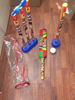 A-ONE Cricket Set for Kids with Bat Ball,Wickets and Carrying Bag