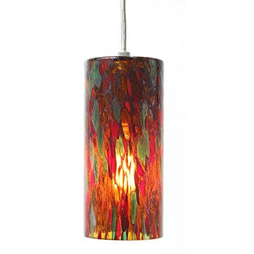 colored glass mini pendant