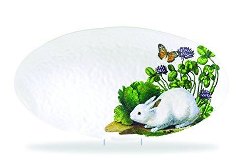 Michel Design Works Melamine Oval Serving Platter, Garden Bu