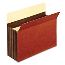 Globe-Weis® C1534GHD - 5 1/4 INCH EXPANSION ACCORDION POCKET, STRAIGHT CUT, LETTER, REDROPE, 10/BOX by Globe-Weis®