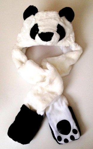 Gorro y bufanda de panda