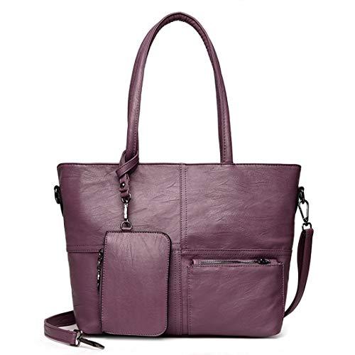 Superior De Bolsos color Hombro Conjuntos Mujeres Con Purple Para Asa Purple Carteras Y n44HISqp
