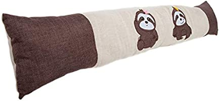 Lilys Home Door Draft Stopper and Air Seal Gap Blocker Ideal Solution for Cold or Hot Air Drafts Fits 36 Inch Wide Flush Doors Plaid Sloth Design 37 Wide, 2 Lbs. Weight