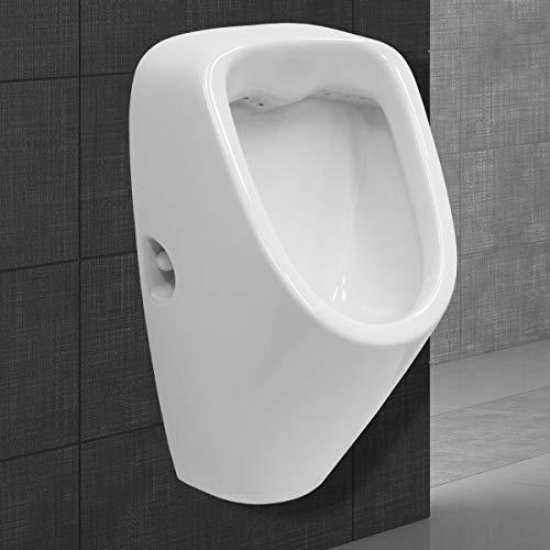 ECD Germany Urinoir met toevoer van achteren – afvoer naar achteren – keramiek – wit – modern design – WC Pissoir…