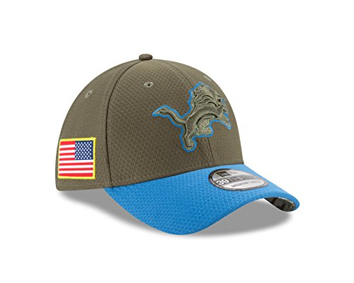 """Detroit Lions New Era NFL 39THIRTY 2017 Sideline """"Salute to Service"""" Hat – DiZiSports Store"""