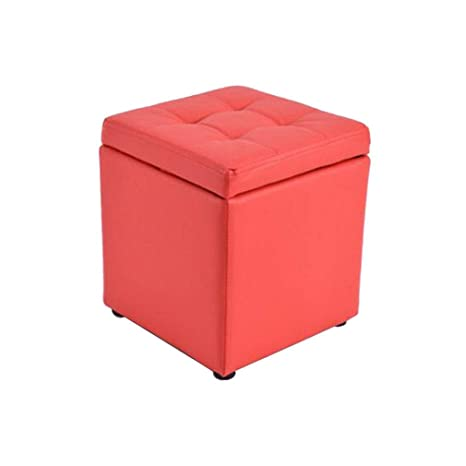 Astounding Amazon Com Qtqhome Square Faux Leather Tufted Cube Storage Squirreltailoven Fun Painted Chair Ideas Images Squirreltailovenorg
