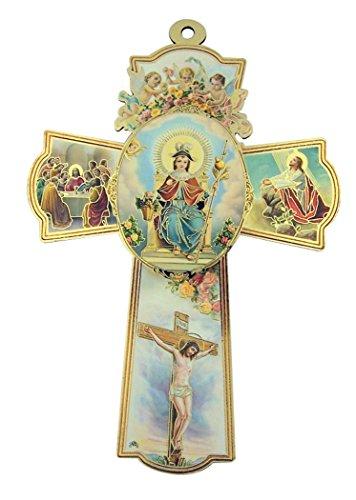 (Religious Gifts Holy Child Jesus Christ Santo Nino de Atocha Wooden Wall Cross Crucifix (8 1/4 Inch))
