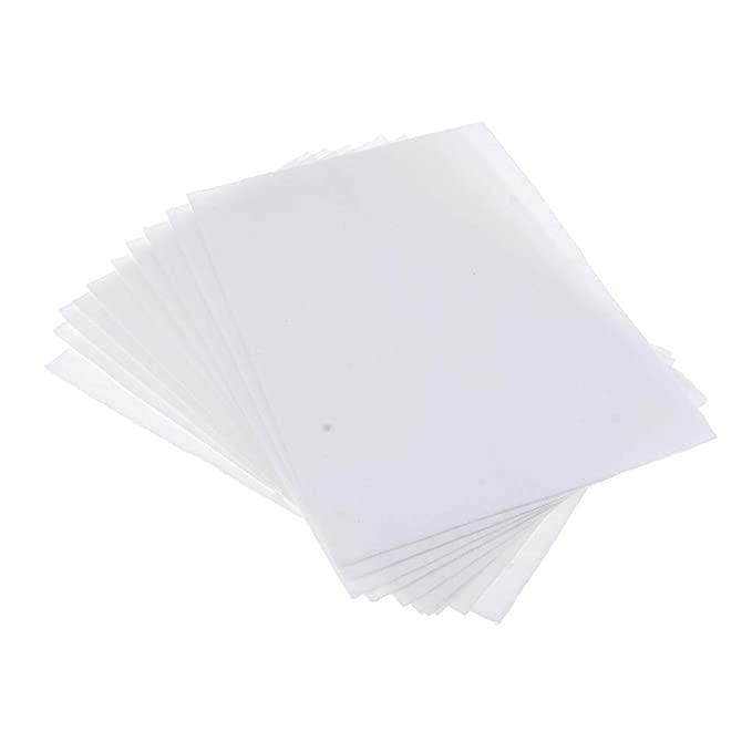 Baosity 10 Pieces 115mm Dia Round Microwave Kiln Paper Ceramic Fiber Paper Glass Fusing Paper Pottery Tool for Household DIY Jewelry Craft