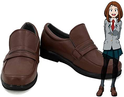 Telacos My Hero Academia Ochako Uraraka Cosplay Shoes Japanese Uniform School Shoes Custom Made