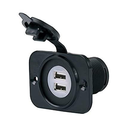 Powerwerx PanelUSB-Plus Panel Mount Dual USB 4.2A Device Charger for 12//24V Sys