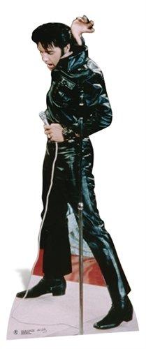 SC594 Elvis Black Leather Cardboard Cutout Standup ()