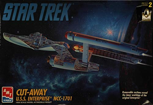 AMT ERTL 1:650 スタートレック カットアウェイ USS エンタープライズ NCC-1701 プラスチックキット #8790の商品画像