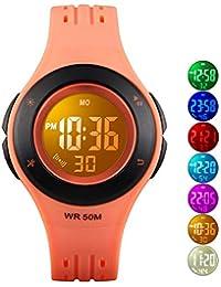 Kids Digital Watch, Boys Sports Waterproof Led Watches...