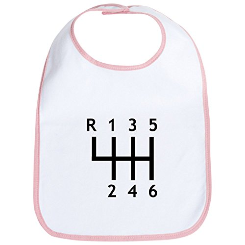 CafePress Gearshift Race Bib Cute Cloth Baby Bib, Toddler Bib