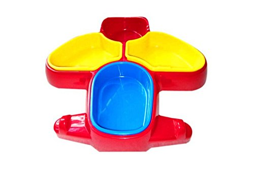 Kangkang@ High Quality Unbreak Colorful Airplane Shaped Healthy Baby Dinnerware Baby Infant Children Aircraft Snack Bowl/cup/box/plate ()