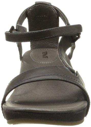 20 DECK. W Capri Wedge Capri Wedge W-W - Sandalias de cuero para mujer, color marrón, talla 37 Negro (Noir (Black Olive))