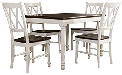 Amazon Com Crosley Furniture Kf20003 Wh Shelby 5 Piece Dining Set