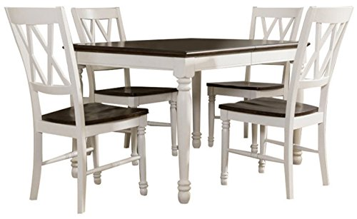 Crosley Furniture KF20003-WH Shelby 5-Piece Dining Set, White (Dining Classic Table White)