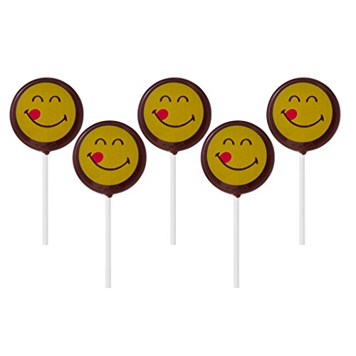 Text Emoji Faces Dark Chocolate Lollipops Sucker